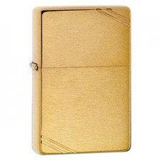 Zippo VINTAGE BRUSHED FIN BRASS