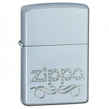 Zippo 205 ZIPPO SCROLL SATIN CHROME