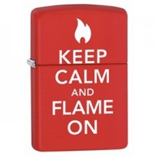 Zippo Keep Calm Flame on