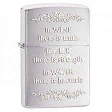Zippo in Wine There Is Truth