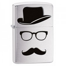 Zippo Top Hat Glasses And Mustache